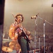 Virtuos und linkshändig: Jimi Hendrix. Bild: redferms