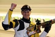 Der Urner Armbrustschütze Stephan Loretz aus Bürglen holte an den Schweizer Meisterschaften über 30 Meter in Wil SG die Bronzemedaille im 30-Meter-Stehemdprogramm. (Arcivbild: PD)