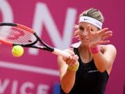 Die Luxemburgerin Mandy Minella, Finalistin in Gstaad, sorgte mit einem Sieg im entscheidenden Doppel für die Entscheidung in der Interclub-Meisterschaft (Bild: KEYSTONE/ANTHONY ANEX)