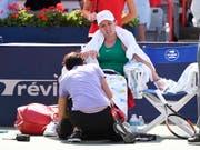 Simona Halep litt bei ihrem zweiten Turniersieg in Montreal - sie musste während des Finals gegen Sloane Stephens sogar behandelt werden (Bild: KEYSTONE/AP The Canadian Press/PAUL CHIASSON)