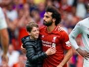 Mo Salah, schon letzte Saison Liverpools Topskorer, eröffnete für Liverpool auch in der neuen Saison das Skore. (Bild: KEYSTONE/EPA/PETER POWELL)