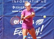 Die Slowakin Kristina Kucova gewann den Final gegendie Westschweizerin Tess Sugnaux. (Bild: Mario Gaccioli)