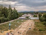 Der Zeltplatz des Heitere Open Air in Zofingen war in den frühen Morgenstunden am Montag schon fast leergeräumt. (Bild: Pius Amrein, 13. August 2018)