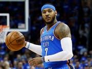 Carmelo Anthony spielte zuletzt bei den Oklahoma City Thunder eine enttäuschende Saison (Bild: KEYSTONE/AP/SUE OGROCKI)