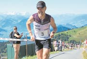 Remo Betschart wird Sieger in der Hauptklasse. (Bild: Bilder: Erhard Gick (Rigi, 12. August 2018))