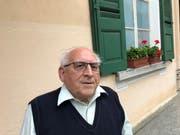 Arnoldo Giacometti, ehemaliger Primarlehrer und Dorfarchivar von Bondo.
