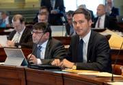 Mathias Müller (rechts), Stadtpräsident von Lichtensteig. (Bild: Regina Kühne)