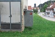 Der Löschposten bei der Trafostation in Au ist einer von insgesamt 34, welche der Zivilschutz in den nächsten zwei Jahren zurückbaut. (Bild: Roman Scherrer)