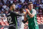 Kein Gegentor! Torhüter Dejan Stojanovic und Milan Vilotic zeigten eine gute Partie.(Andy Mueller/freshfocus)
