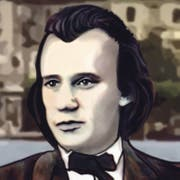 Johannes Brahms.Illustration: Janina Noser