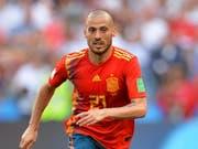 Erklärt mit 32 Jahren seinen Rücktritt aus der spanischen Nationalmannschaft: David Silva (Bild: KEYSTONE/EPA/PETER POWELL)