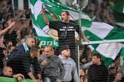 Lautstark und leidenschaftlich: Die Fans des FC St.Gallen. (Bild: Urs Bucher)
