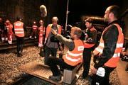 Eine Filmcrew dreht für die SBB im Haltiwaldtunnel der Zentralbahn einen Film. (Archivbild: Nadia Schärli).