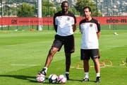 Patrick Vieira (links) tritt bei Nice in der Ligue 1 die Nachfolge von Lucien Favre an. (Bild: Getty Images)