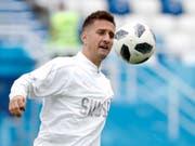 Mario Gavranovic spielt mit Dinamo Zagreb gegen die Young Boys um den Einzug in die Champions-League-Gruppenphase (Bild: KEYSTONE/AP/ANTONIO CALANNI)