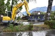 Der Spielplatz Kappeli ist für die nächsten Monate gesperrt, er wird komplett umgestaltet. Der Bunker bleibt aber bestehen. (Bild: Heini Schwendener)