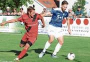 Bei Widnaus 0:0 zum Saisonauftakt in Bazenheid spielte Daniel Lässer (rechts) gewohnt stark. (Bild: Beat Lanzendorfer)