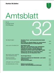 Das St.Galler Amtsblatt wird künftig nicht mehr gedruckt. (Screenshot: www.amtsblatt.sg.ch)