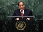 Ägyptens Präsident Abdel Fattah al-Sisi soll hinter verschlossenen Türen mit Israel verhandelt haben. (Bild: KEYSTONE/EPA/JASON SZENES)