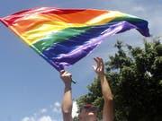 Die Diskriminierung von homo- und bisexuellen Personen soll im Strafrecht explizit verboten werden. Der Bundesrat hält das zwar nicht für vordringlich, ist aber einverstanden. (Bild: KEYSTONE/EPA EFE/LUIS EDUARDO NORIEGA A.)