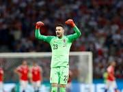 Danijel Subasic avancierte für Kroatien an der WM jeweils in den Penaltyschiessen zum Matchwinner (Bild: KEYSTONE/AP/REBECCA BLACKWELL)