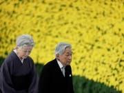 Kaiser Akihito und Kaiserin Michiko bei der Gedenkfeier zum 73. Jahrestag des Kriegsendes. (Bild: Keystone/EPA/KIYOSHI OTA)