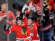 Tommy Wingels (links) bringt NHL-Erfahrung in die Westschweiz (Achriv) (Bild: KEYSTONE/AP/NAM Y. HUH)