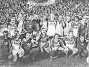 Schweizer NLA-Meistertitel 1989: Der FC Luzern feiert.