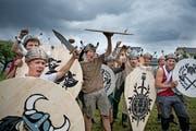 Die Jungwacht Alpnach mutierte in ihrem Lager zu einer Horde Wikinger. (Bild: Corinne Glanzmann (Alpnach, 6. Juli 2018))