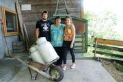 Die Besitzerfamilie Würsch mit Mathias, Erna und Andrea Würsch.