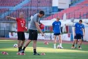 Assistenztrainer Thomas Binggeli und Trainer Rene Weiler (Martin Meienberger/freshfocus)