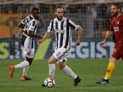 Gonzalo Higuain (am Ball) spielt künftig für Milan (Bild: KEYSTONE/AP/GREGORIO BORGIA)
