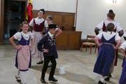 Auch die Jugendtrachtengruppe Seelisberg tanzte in der Pfarrkirche. (Bilder: Christoph Näpflin, Seelisberg, 1. August 2018)