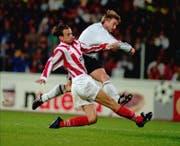 Mini Jakobsen im Jahr 1997 in einem Champions-League-Spiel mit Rosenborg Trondheim. (Gorm Kallestad/AP)