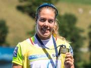 Grösste Schweizer Medaillenhoffnung an der EM in Glasgow: Weltcupsiegerin und Weltmeisterin Jeannine Gmelin (Bild: KEYSTONE/ALEXANDRA WEY)