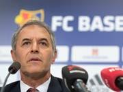 Marcel Koller bei der Präsentation als neuer Trainer des FC Basel (Bild: KEYSTONE/GEORGIOS KEFALAS)