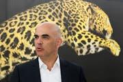 Alain Berset zeigte sich zuversichtlich, was die Aussichten der Schweizer Filmbranche betrifft. (Bild: Peter Klaunzer/KEY)