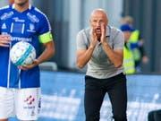 Peter Zeidlers Anweisungen kommen beim FC St. Gallen noch nicht richtig an (Bild: KEYSTONE/EPA NTB SCANPIX/FREDRIK HAGEN)