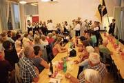 Die Musikgesellschaft Hemberg eröffnete die 1.-August-Feier im Kirchgemeindesaal. (Bild: Cecilia Hess-Lombriser)