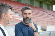 Zug-94-Trainer Ergün Dogru verlangt viel von seinen Spielern, gibt aber auch viel zurück. (Bild: Michael Wyss (Zug, 30. Juli 2018)