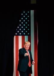 US-Präsident Donald Trump. Bild: Jeff Roberson/AP (St. Charles, 29. November 2017)