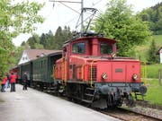 Für einmal kein Dampf: Wegen Feuergefahr verkehren am Sonntag auf der Nostalgiestrecke Hinwil-Bauma im Zürcher Oberland statt kohlegefeuerten Dampflokomotiven nun Elektro-Oldtimer. (Bild: DVZO)