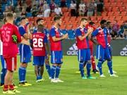 Enttäuschte Gesichter nach dem Ausscheiden des FC Basel in der 2. Qualifikationsrunde der Champions League (Bild: KEYSTONE/GEORGIOS KEFALAS)
