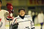 Die 55-jährige Fran Hancock ist eine der wenigen Frauen, die einen Schweizer Eishockeyclub führen. (Bild: PD)
