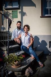 Sindy Berger und Andy Pöhler haben zig Ideen für den «Hirschen» in Wittenbach. Vor allem wollen sie «präsent sein» im Restaurant und im Dorf. (Bild: Benjamin Manser)