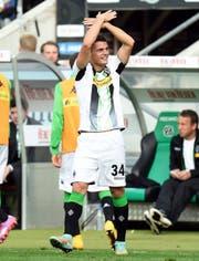 Er zeigte den Doppeladler schon 2014 - damals aber nur auf Vereinsebene: Granit Xhaka im Trikot von Borussia Mönchengladbach. (Bild: Freshfocus/Tim Groothuis)