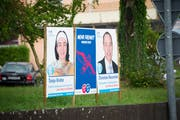 Wahlplakate für die eidgenössischen Wahlen von 2015. (Bild. Ralph Ribi)