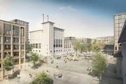 Das neue Quartier auf dem Papieri-Areal soll durchmischt und lebendig sein. (Bild: Visualisierung: PD)