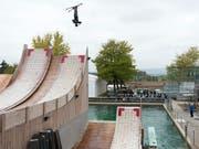 Das «Jumpin» in Mettmenstetten dient den Schweizer Freestyle-Athleten als Entwicklungs- und Trainingsstätte (Bild: KEYSTONE/ANTHONY ANEX)