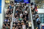 Die Videospielmesse Gamescom dauert vom 22. bis zum 25. August. Bild: Sascha Steinbach/EPA (Köln, 22. August 2018)